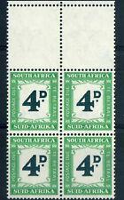 SOUTH AFRICA 1950-58 4d Deep myrtle green & emerald Postage due SG D42 MNH / UMM