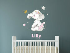 Wall sticker for children with a name decoration Kids Baby Childroom elephant
