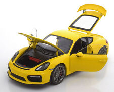 Schuco 2015 Porsche Cayman GT4 Yellow in 1/18 Scale New Release!