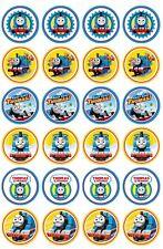 24 x Thomas the tank edible image cupcake toppers Pre Cut