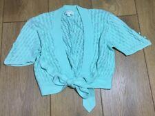 American Retro Paris EUR36 Mint Green Bolero Fine Knitwear Crochet