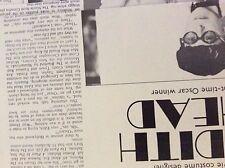 m9-9m ephemera 1970/s film article costume designer edith head