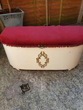 Vintage ottoman storage box footstool