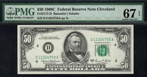 TOP POP 3/0 - 1969c $50 Cleveland Federal Reserve Note • FRN 2117-D • PMG 67 EPQ