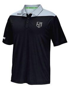 "Los Angeles Kings Reebok NHL 2016 Center Ice ""Statement"" Speedwick Polo Shirt"