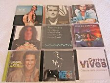 Colombian Pop Music Cds, Shakira, Carlos Vives, Grupo Niche, Crespo and Juanes