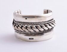 Vintage Egyptian Ethnic Bedouin Silver Siwa Bracelet Cuff
