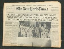 Apollo 11 Launch - Moon Space Flight - 1969 New York Times Newspaper