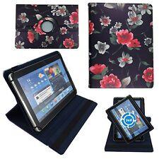 Schwarze Blumen Tablet Tasche für 10 Zoll Samsung Galaxy Tab A6 SM-T580  Hülle