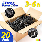 Lot of 20 3FT-6FT 2-Prong Cable DELL HP LENOVO ASUS Laptop Adapter Power Cord