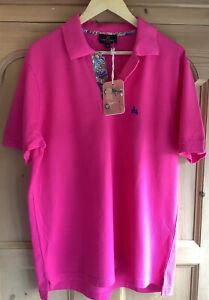 BNWT Simon Carter Classic Pink Polo Shirt