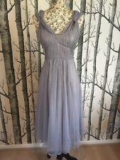 Phase Eight Mesh Goddess Dress Grey Tulle Princess Dress Size 8 RRP £120 NWT
