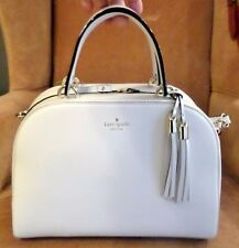 Kate Spade Atwood Place Bayley Leather Satchel Purse - White Stone Ice NWT