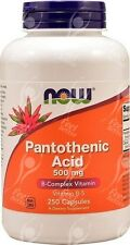 NOW FOODS ACIDO PANTOTENICO VITAMINA B5 - 500 mg x250