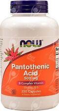 Now Foods Pantothenic Acid Vitamin B5 -  500mg x250