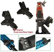 Flip Up Front & Rear 45 Degree Offset Adjustable Iron Sights Set Pair Polymer