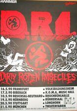 D.R.I.  1990  TOUR  ++  orig.Concert Poster - Konzert Plakat  NEU  A1