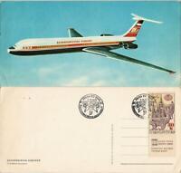 Ansichtskarte  CSA CZECHOSLOVAK AIRLINES Flugwesen - Flugzeuge gel. 1991