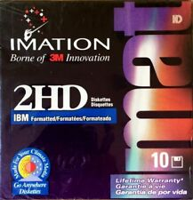 Imation 3M 2HD Floppy Disks 1.44 MB Best Box of 10 Diskettes IBM Sealed NOS NEW