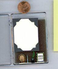 Miniature Dollhouse Chrysnbon Kit / 5 Pc Desk Set, finished 113 inkwell, pen etc