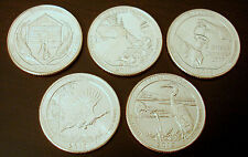 Set anni 2015 US NATIONAL PARK QUARTER D Mint (SET of 5 COINS from 2015 UNC.)
