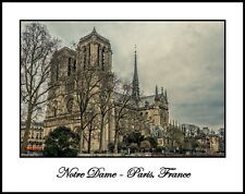 Notre Dame with Trees 11x14 Photograph  (CDG171224005611x14)