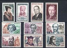 France 10 timbres non oblitérés gomme**  33  Célébrités
