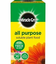 Miracle Gro All Purpose Soluble Plant Food Feed 500g Grows Plants Twice as Big!