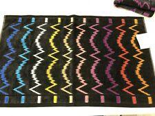Set of TWO Missoni Home Vera Hand Towels Brand New Pristine Black Multi
