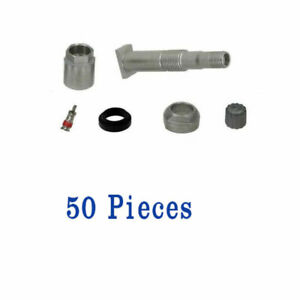 50 Pieces TPMS Wheel Valve Stem Rebuild Kit for Mercedes R172 W209 W204 W166