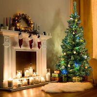 6ft 180cm Christmas Xmas Tree with Metal Stand Traditional Home Holiday Decor UK