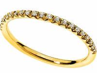 Anello fedina Eternity oro Giallo 18 kt. diamanti naturali ct. 0.20 donna Regalo