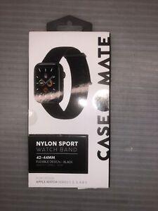 Case Mate Nylon Apple Watch Strap Black 42-44mm Black