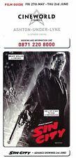 Sin City Cine world Cinema Flyer 2015 Bruce Willis