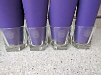 4 Dewars Scotch Whiskey Liquor Rocks Glass glasses Pentagon Shape Heavy Base  NR