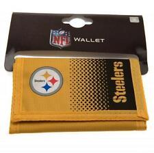 NFL PITTSBURGH STEELERS Fade Dinero Cartera Monedero Moneda Tarjeta de Nota Hombre Nuevo Regalo De Navidad