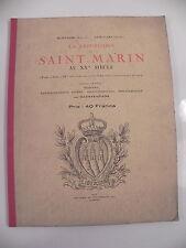 MONTALBO & ASTRAUDO LA REPUBLIQUE DE SAINT-MARIN AU XXe 101 ill. 1926 SAN MARINO