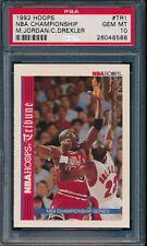 PSA 10 MICHAEL JORDAN / DREXLER 1992-93 HOOPS Bulls NBA CHAMPS GOAT GEM MINT