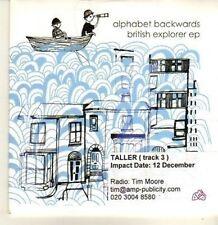 (CP396) Alphabet Backwards, British Explorer EP - DJ CD
