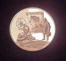 """""""MAKING OF THE PENNY BACK STAMP~ISSUE #2"""" 24 GR .925 SILVER PROOF MEDAL (FM)"""