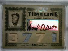 2005 Prime Cuts Hank Aaron Auto Bat Jersey Bat Jersey 5/5 MINT