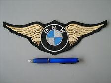 BMW CON ALI ORO PATCH TOPPA RICAMATA TERMOADESIVA CM.28x10
