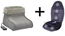 Massage Heated Seat Cushion + Heated Massage Foot Warmer Winter Gift Pack