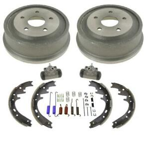 New Rear Drums Shoes Wheel Cylinders Spring Kit for Dodge Ram 1500 Pick Up 00-01