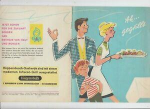 Küppersbusch Gelsenkirchen Gasherd mit Grill Rezepte Zeichnungen Tips um 1960
