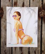Oeuvre originale signée - peinture unique - nude sexy street art graffiti dessin