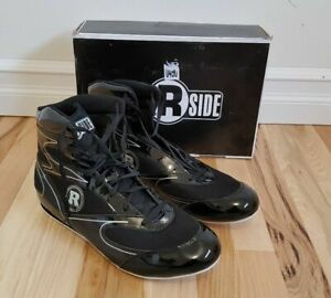 NEW Ringside High Top Boxing Shoe Black/Silver W2206-01 Youth Size 4