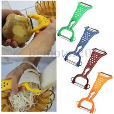 Vegetable Fruit Potato Peeler Parer Julienne Cutter Slicer Stainless Steel Blade