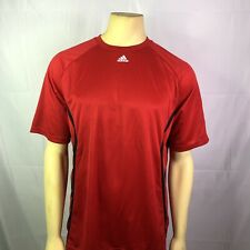 Adidas Men Formation Entrada Sports Too Red Short Sleeve Size Large