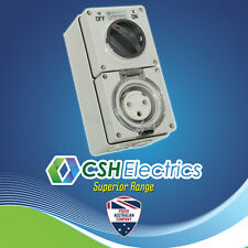 IP66 Round 3 Pin 20 Amp Single Phase Switched Socket Outlet Weatherproof